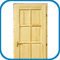 Egyenes 8 kazettás fenyő ajtók