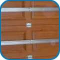 Szekcionált kapu vasalatok panelek nélkül
